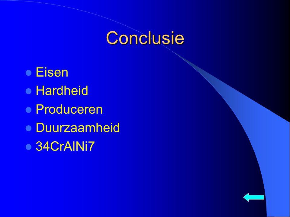 Conclusie Eisen Hardheid Produceren Duurzaamheid 34CrAlNi7