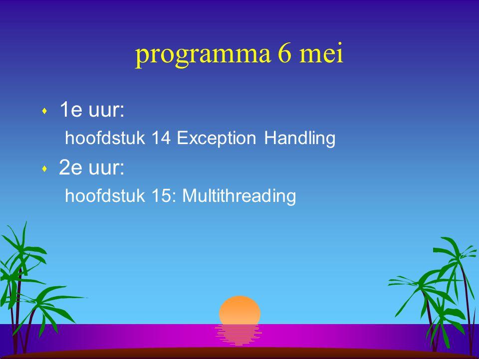 Hoofdstuk 14 Exception Handling s wat is het.