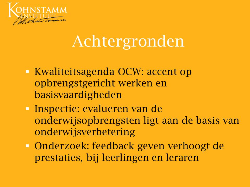 What's in a name.Alle onderwijs is opbrengstgericht….