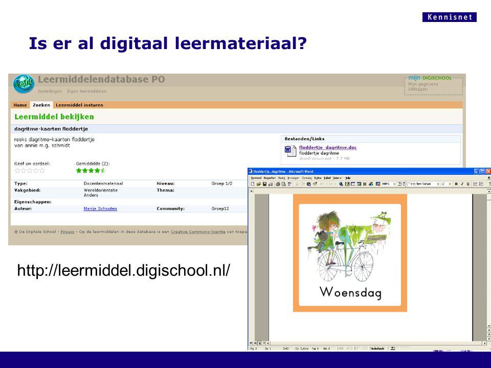 Is er al digitaal leermateriaal http://leermiddel.digischool.nl/