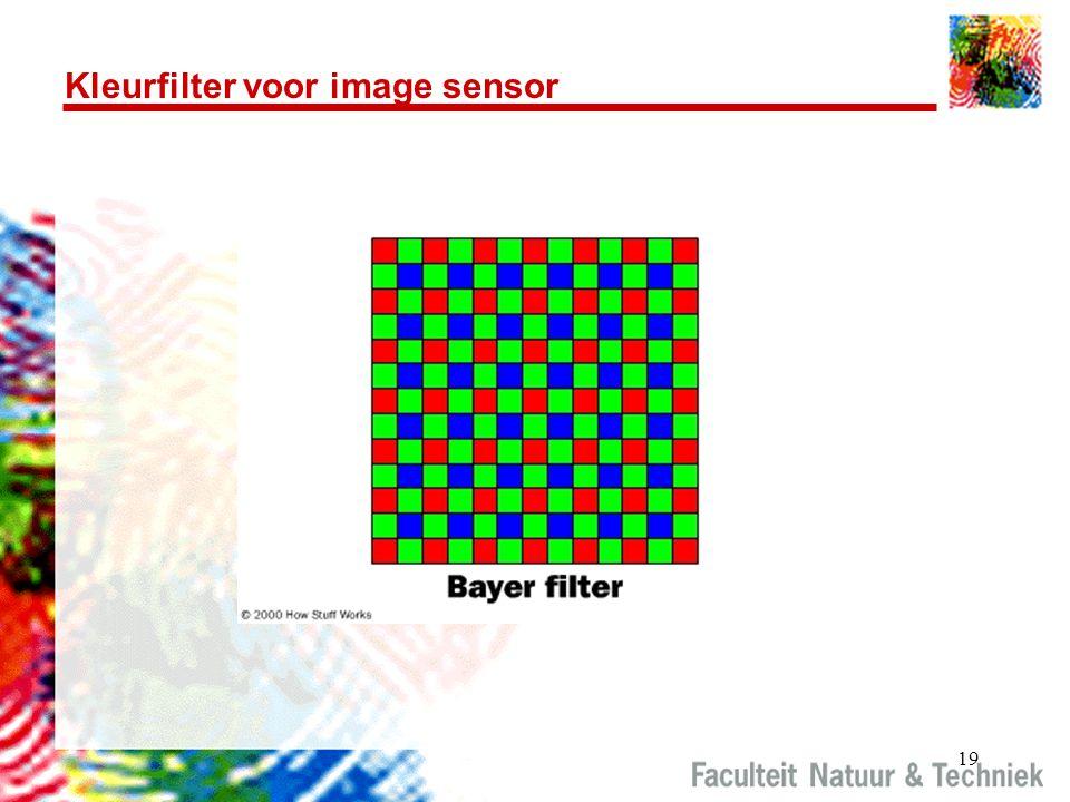 19 Kleurfilter voor image sensor