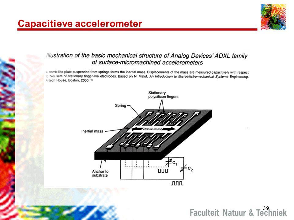39 Capacitieve accelerometer