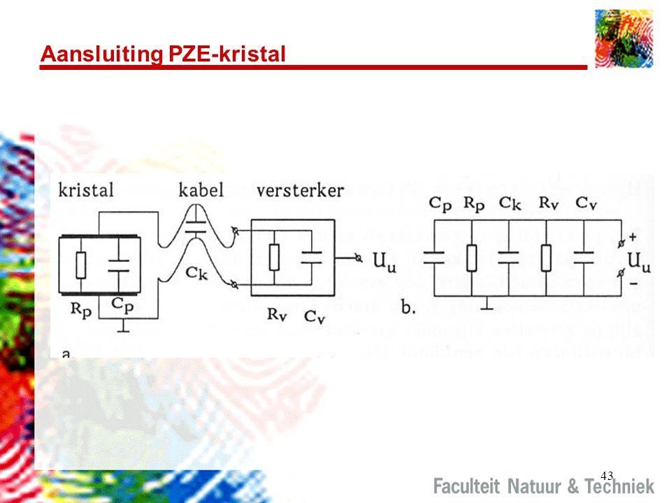 43 Aansluiting PZE-kristal