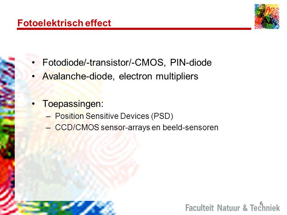7 Diverse typen fotodiodes