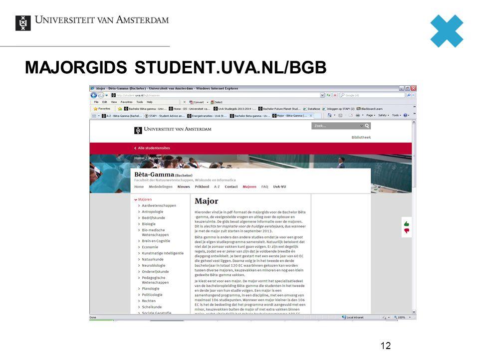 12 MAJORGIDS STUDENT.UVA.NL/BGB