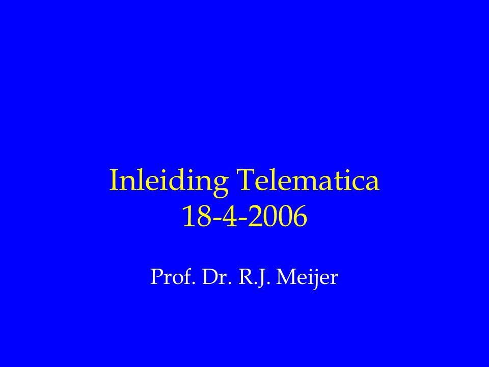 Inleiding Telematica 18-4-2006 Prof. Dr. R.J. Meijer