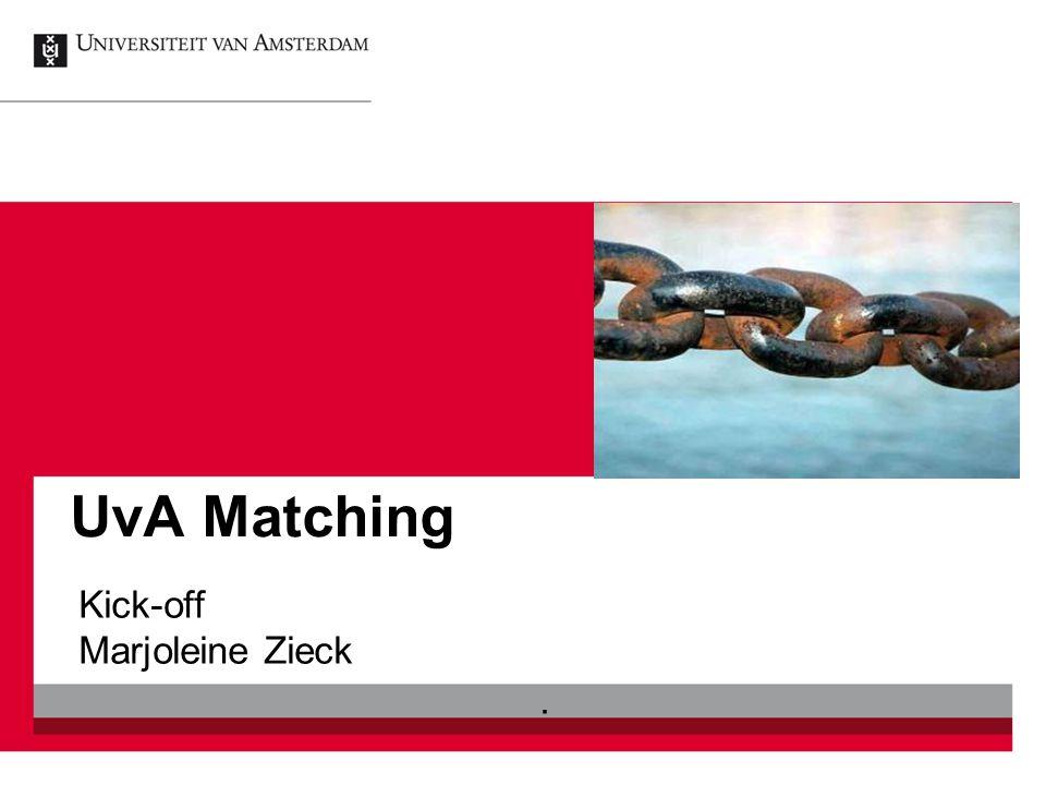 UvA Matching Kick-off Marjoleine Zieck.
