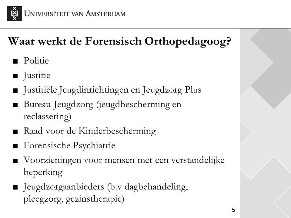 66 Wat doet de Forensisch Orthopedagoog.
