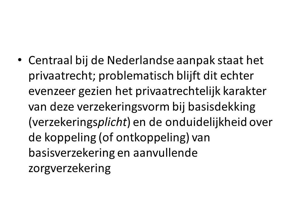 Centraal bij de Nederlandse aanpak staat het privaatrecht; problematisch blijft dit echter evenzeer gezien het privaatrechtelijk karakter van deze ver