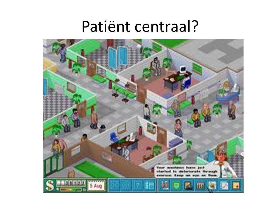 Patiënt centraal?
