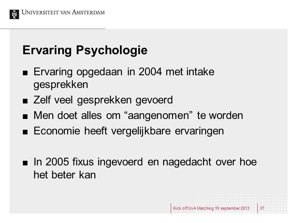 """Ervaring Psychologie Ervaring opgedaan in 2004 met intake gesprekken Zelf veel gesprekken gevoerd Men doet alles om """"aangenomen"""" te worden Economie he"""