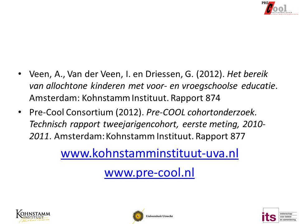 Veen, A., Van der Veen, I.en Driessen, G. (2012).