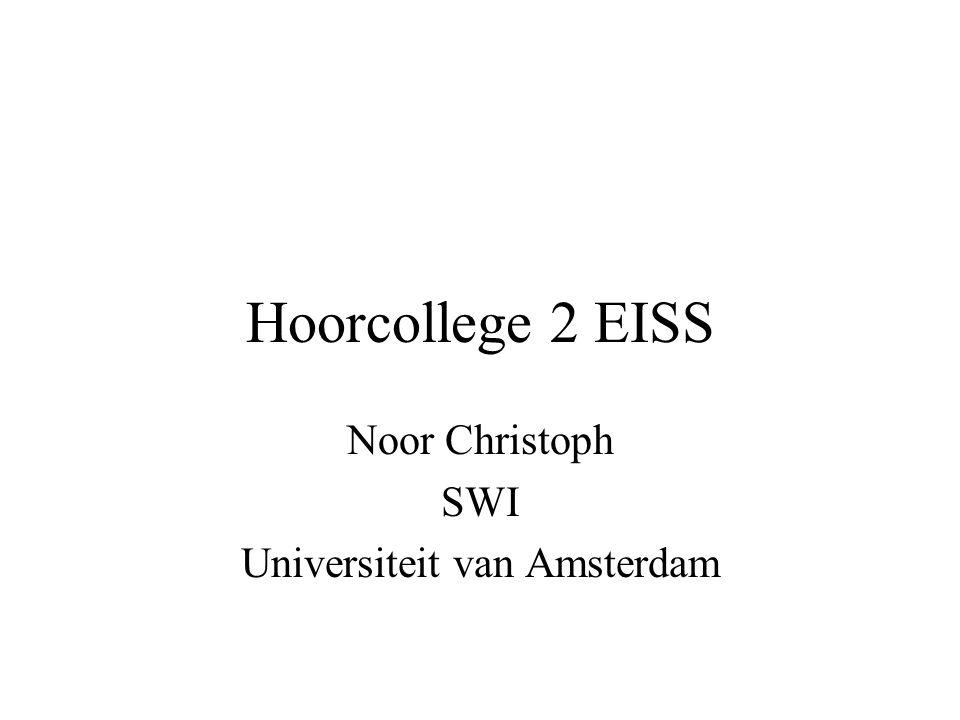 Hoorcollege 2 EISS Noor Christoph SWI Universiteit van Amsterdam