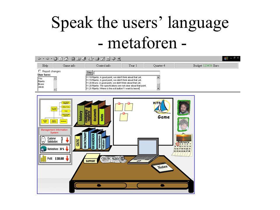 Speak the users' language - metaforen -