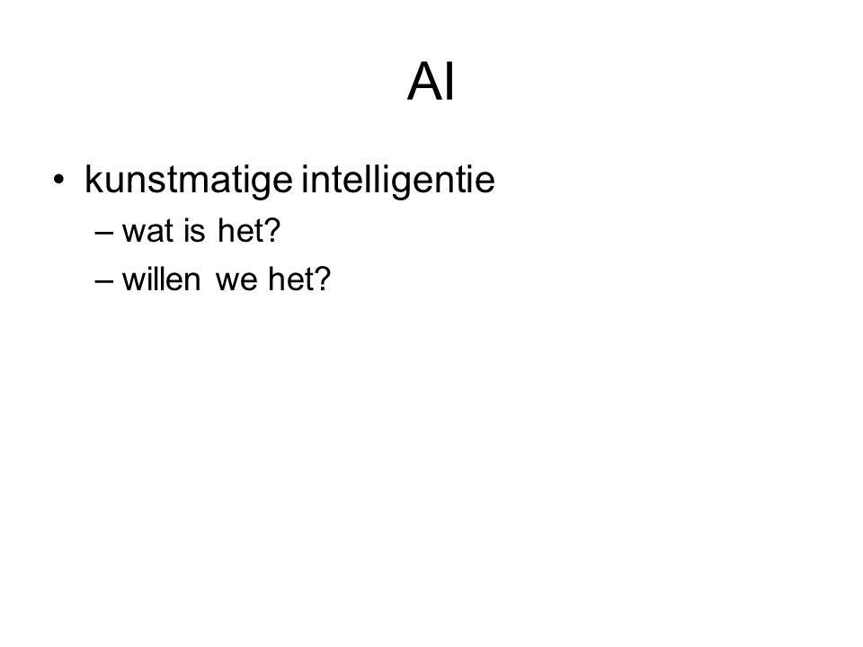 AI kunstmatige intelligentie –wat is het –willen we het