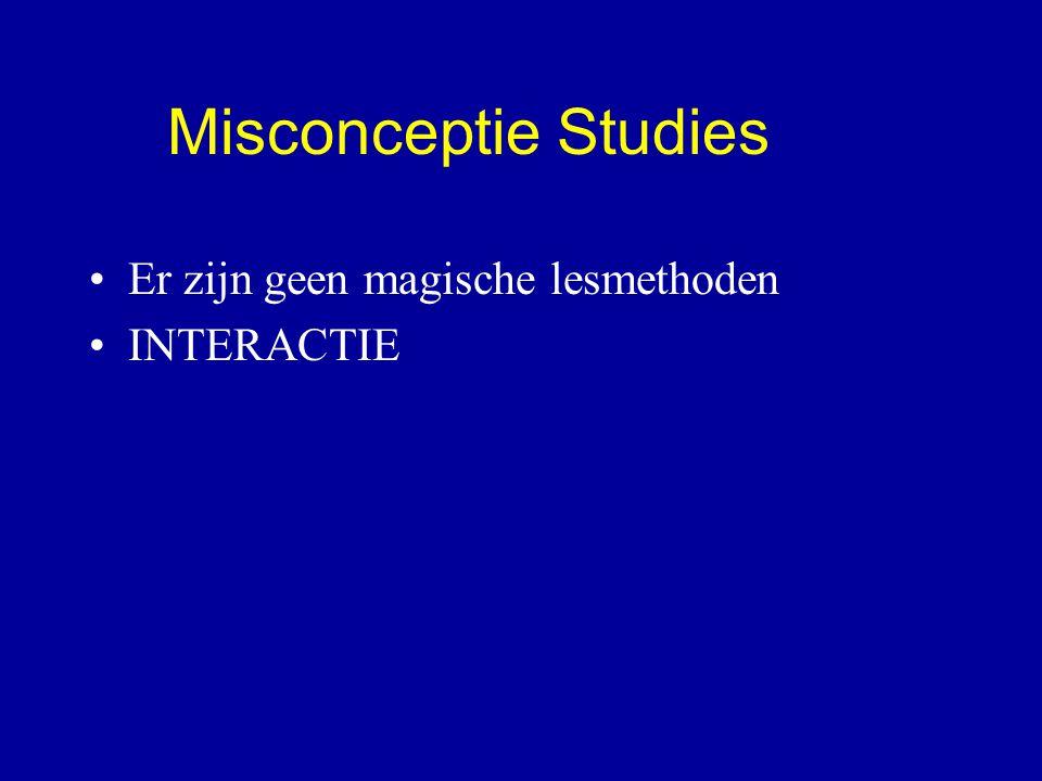Er zijn geen magische lesmethoden INTERACTIE Misconceptie Studies