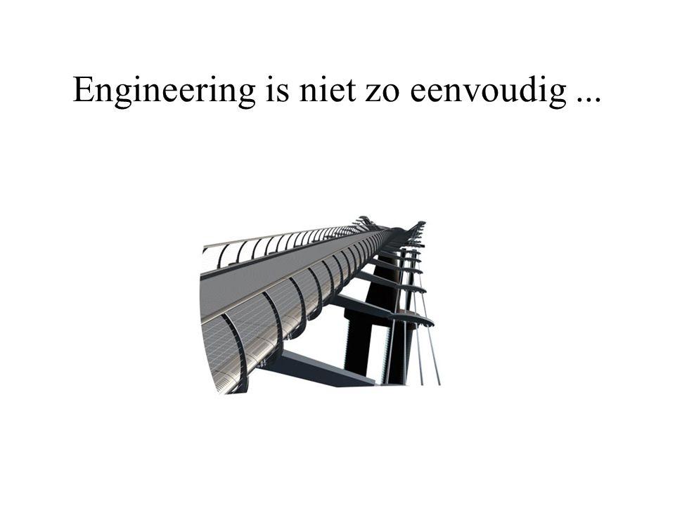 Engineering is niet zo eenvoudig...