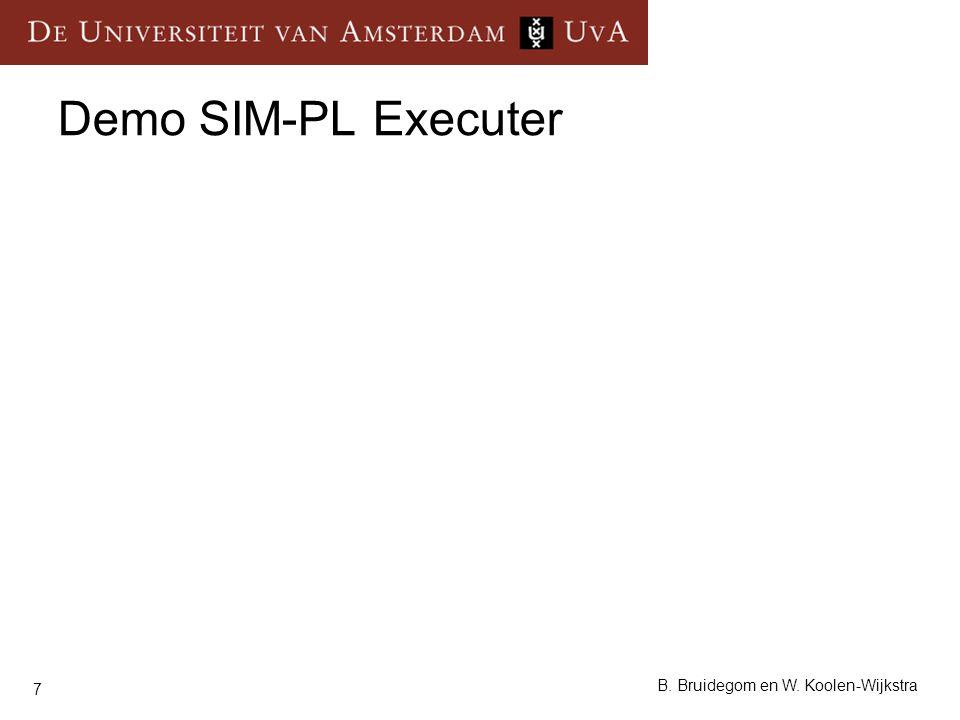 7 B. Bruidegom en W. Koolen-Wijkstra Demo SIM-PL Executer