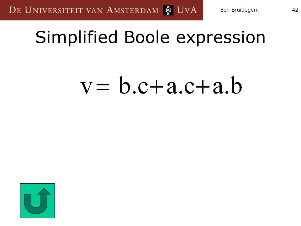 Ben Bruidegom42 Simplified Boole expression
