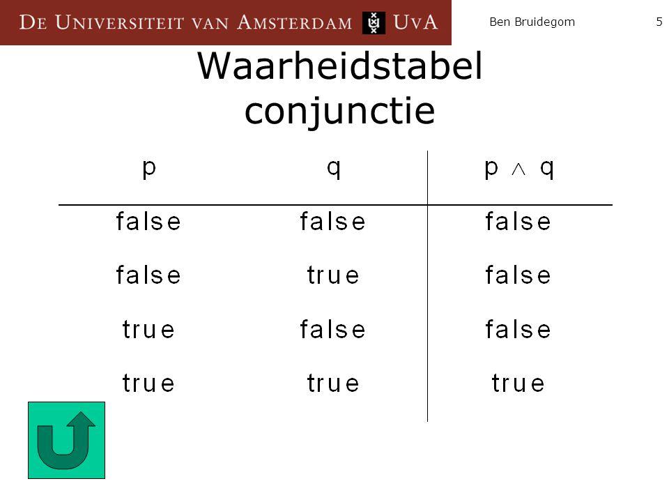 Ben Bruidegom5 Waarheidstabel conjunctie