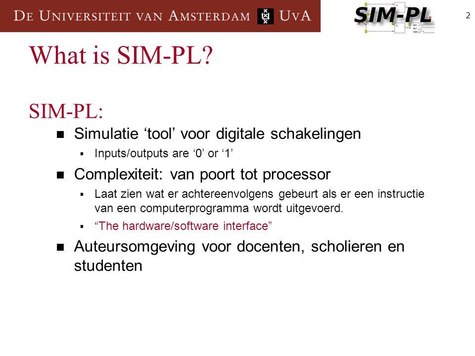 3 Register Waar kun je SIM-PL bij gebruiken.