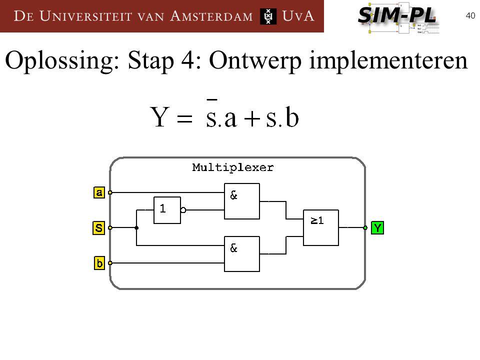 40 Oplossing: Stap 4: Ontwerp implementeren