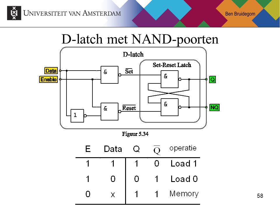 58Ben Bruidegom 58 D-latch met NAND-poorten