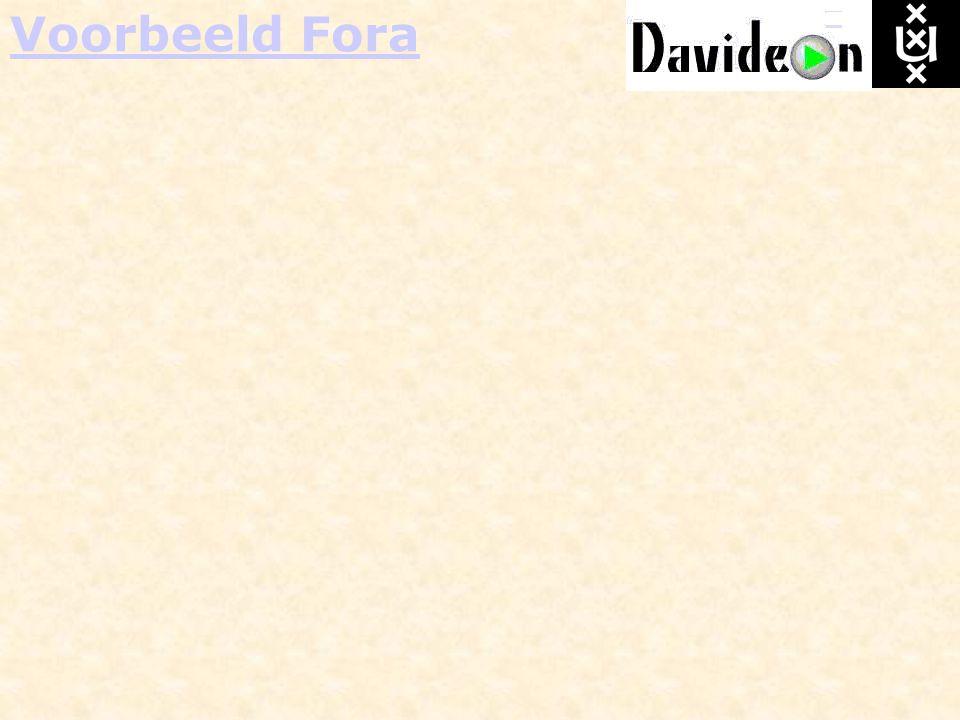 Voorbeeld Fora