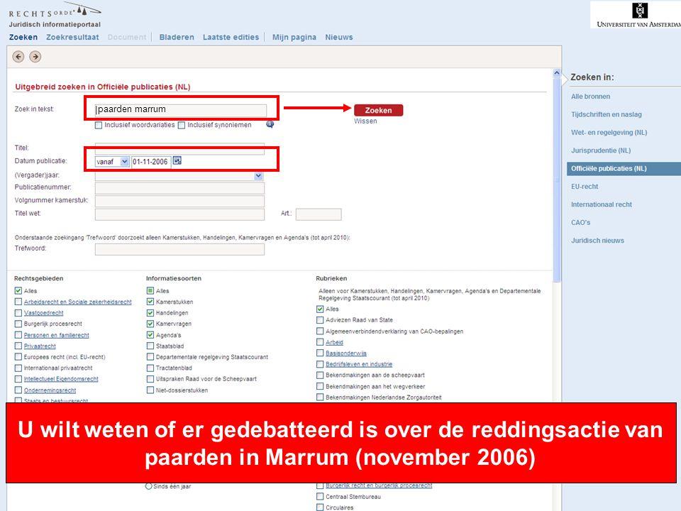 12 U wilt weten of er gedebatteerd is over de reddingsactie van paarden in Marrum (november 2006) paarden marrum