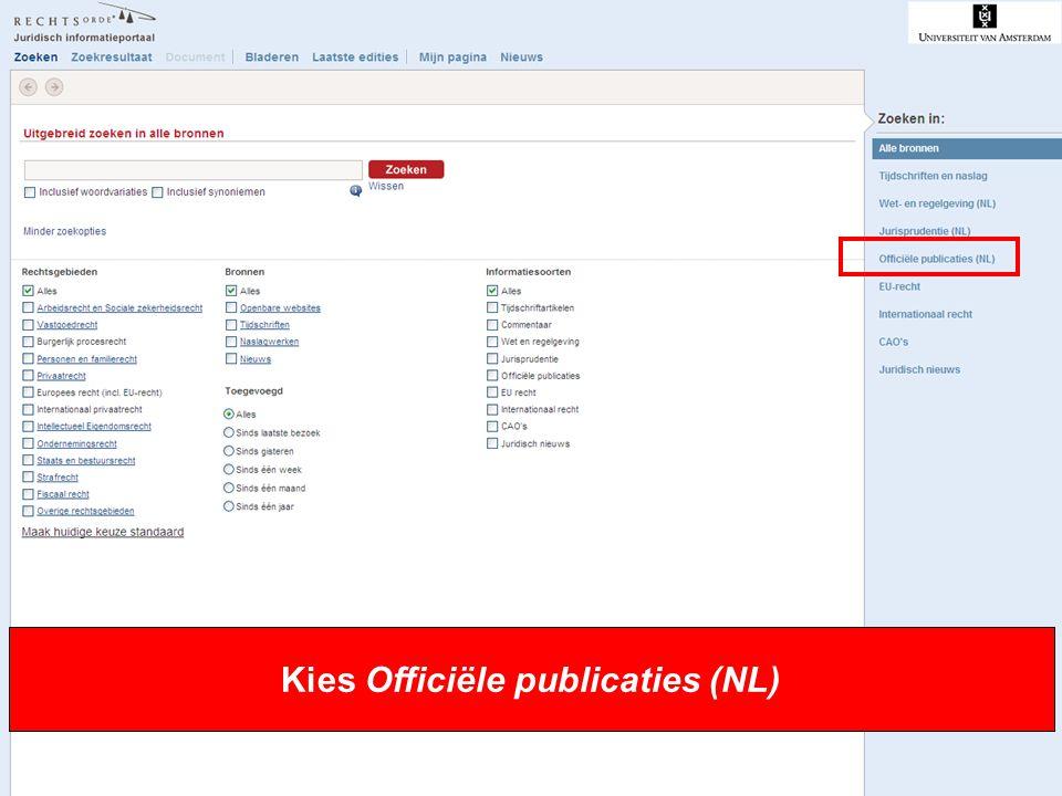 5 Kies Officiële publicaties (NL)