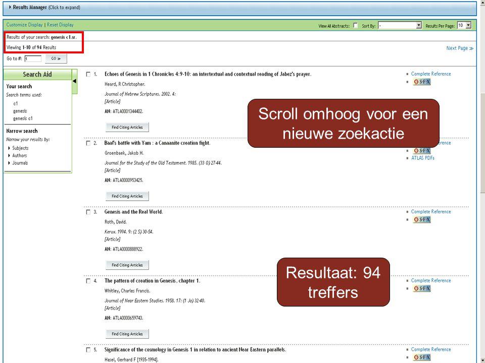 Resultaat: 94 treffers Scroll omhoog voor een nieuwe zoekactie