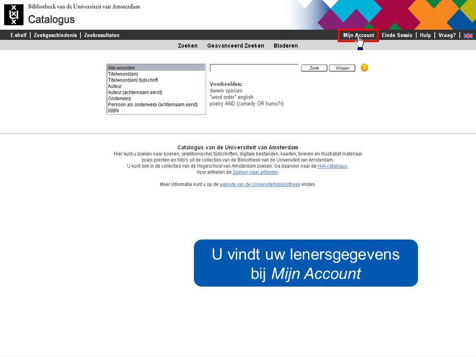 / 2 U vindt uw lenersgegevens bij Mijn Account