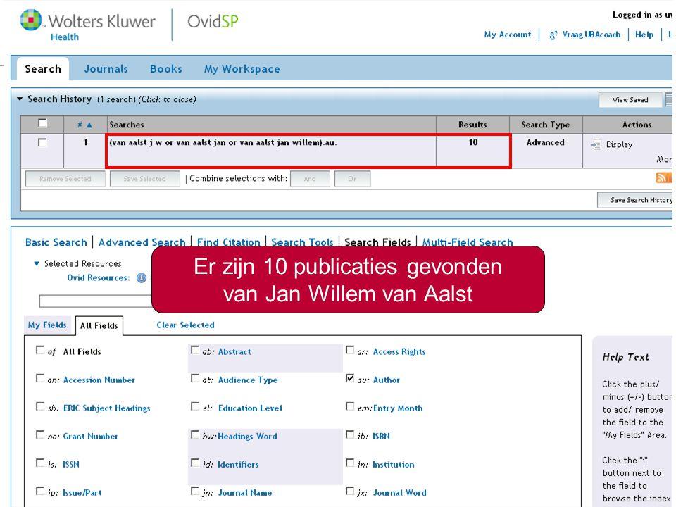 /?8 Er zijn 10 publicaties gevonden van Jan Willem van Aalst