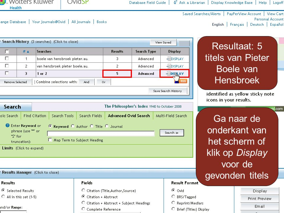 Resultaat: 5 titels van Pieter Boele van Hensbroek Ga naar de onderkant van het scherm of klik op Display voor de gevonden titels