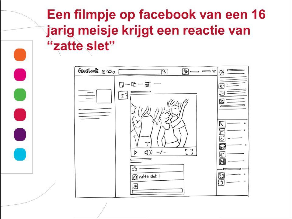 Een filmpje op facebook van een 16 jarig meisje krijgt een reactie van zatte slet