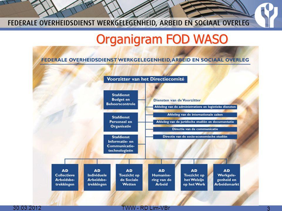TWW - RD Lim-VBr 3 Organigram FOD WASO 30.03.2012