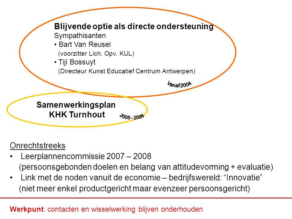 Onrechtstreeks Leerplannencommissie 2007 – 2008 (persoonsgebonden doelen en belang van attitudevorming + evaluatie) Link met de noden vanuit de econom
