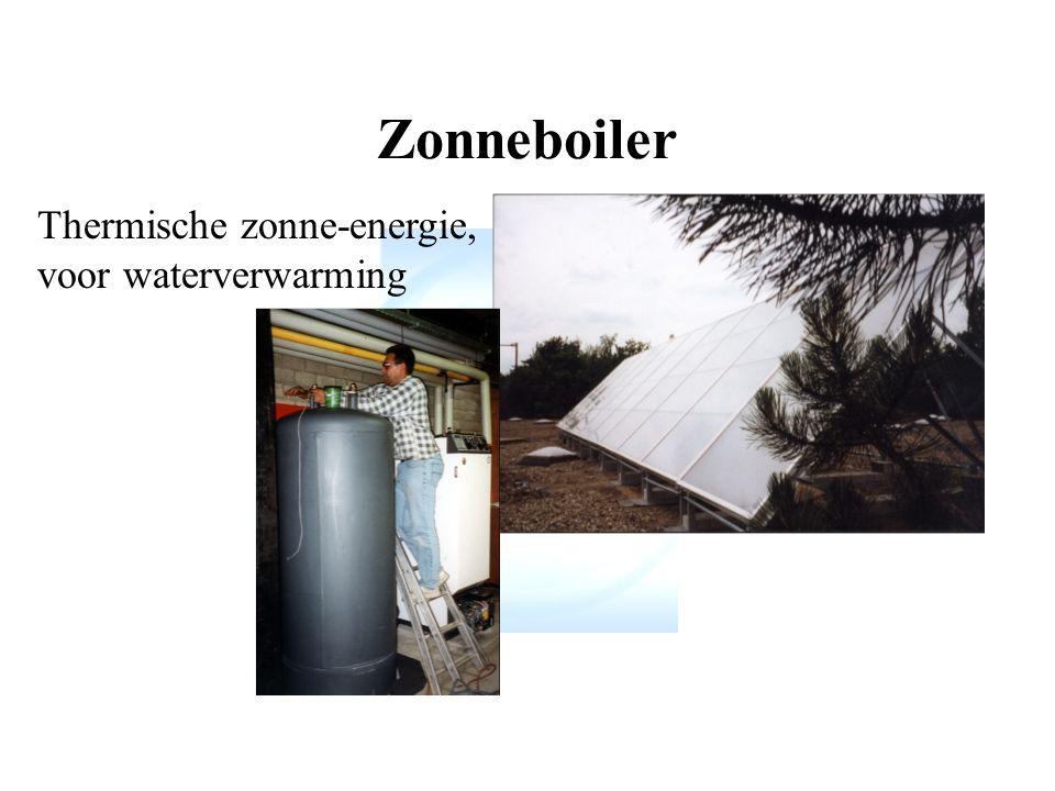 Zonneboiler Thermische zonne-energie, voor waterverwarming