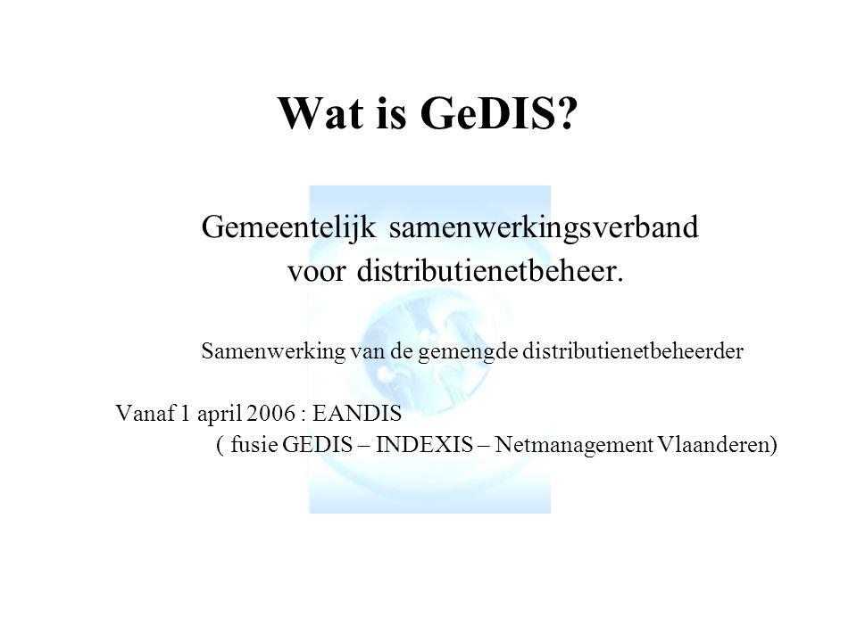 Wat is GeDIS.Gemeentelijk samenwerkingsverband voor distributienetbeheer.