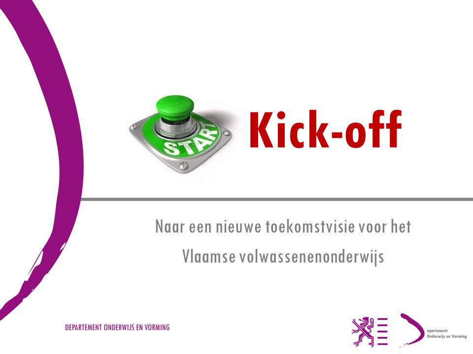 Kick-off Naar een nieuwe toekomstvisie voor het Vlaamse volwassenenonderwijs