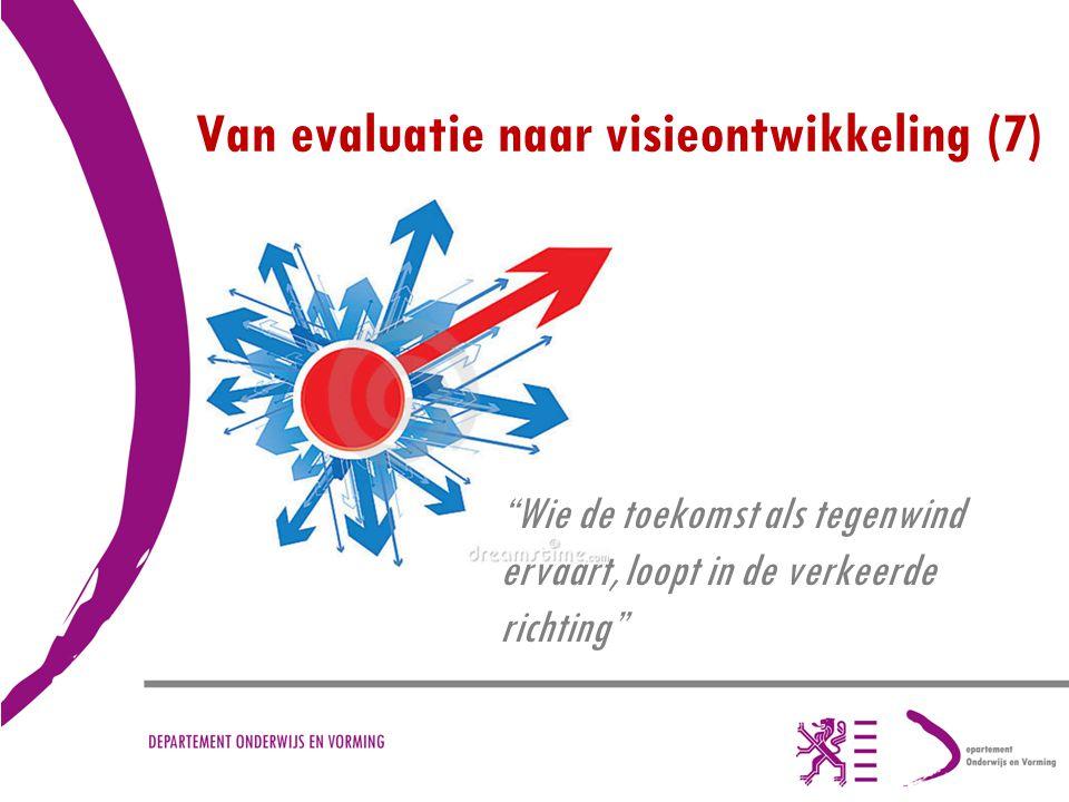 """Van evaluatie naar visieontwikkeling (7) """"Wie de toekomst als tegenwind ervaart, loopt in de verkeerde richting"""""""