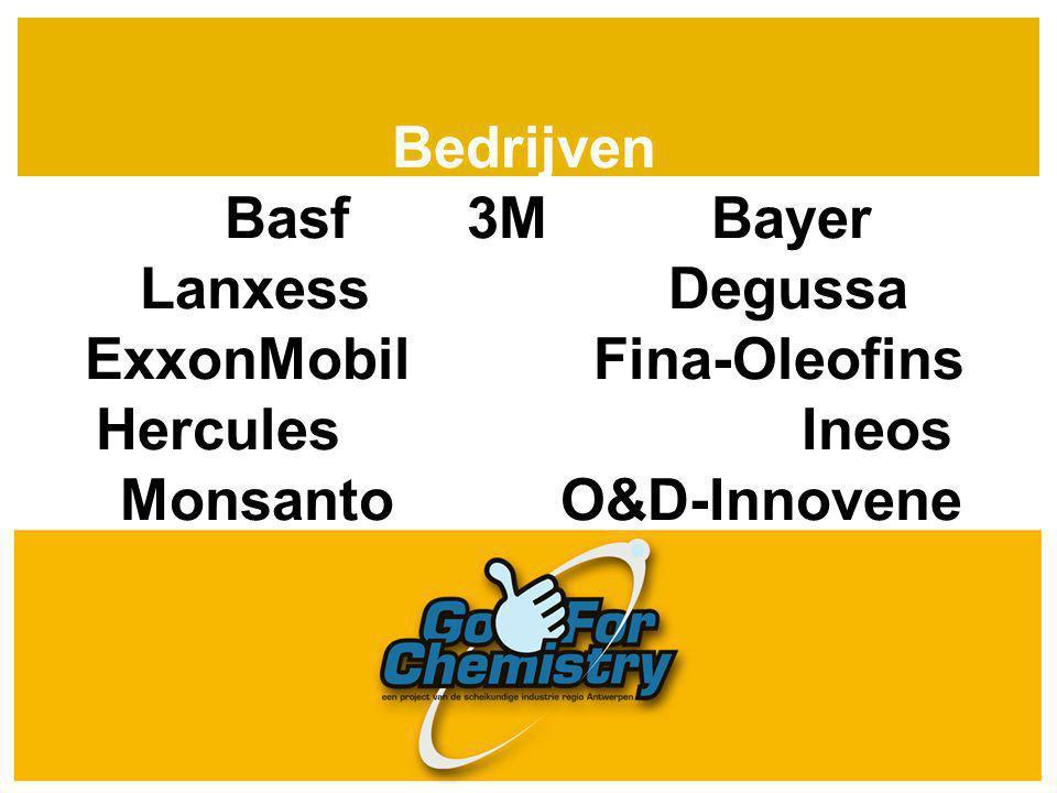 Bedrijven Basf 3M Bayer Lanxess Degussa ExxonMobil Fina-Oleofins Hercules Ineos Monsanto O&D-Innovene