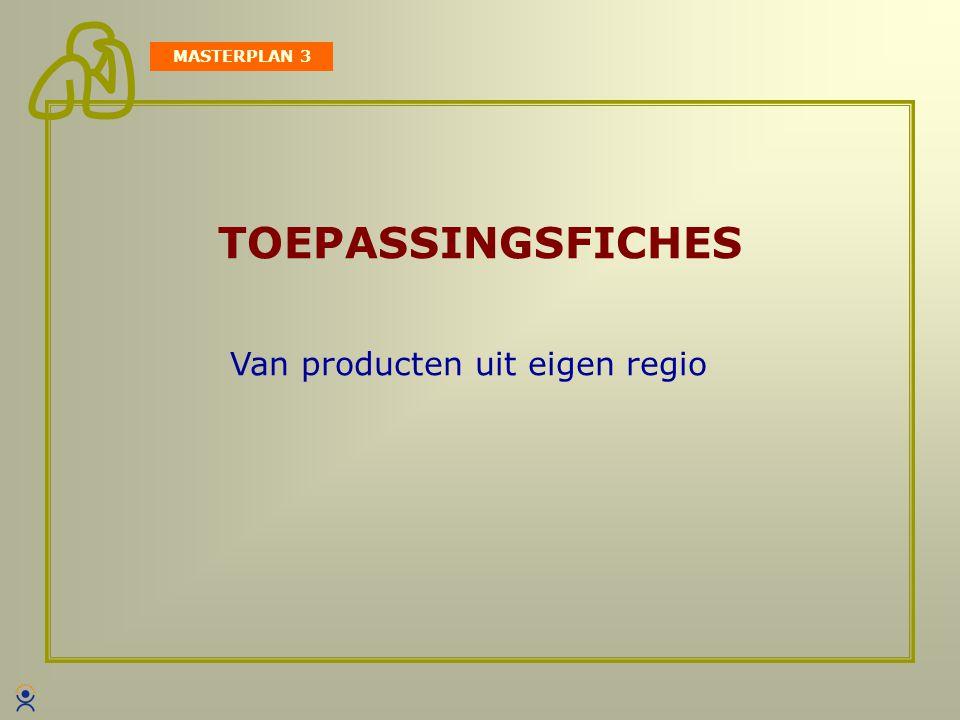 TOEPASSINGSFICHES MASTERPLAN 3 Van producten uit eigen regio