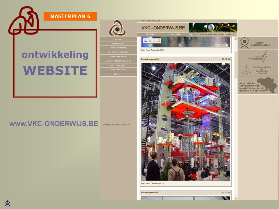 Daniël Butaye ontwikkeling WEBSITE Ondersteuning met lesmateriaal Interessante links … MASTERPLAN 6