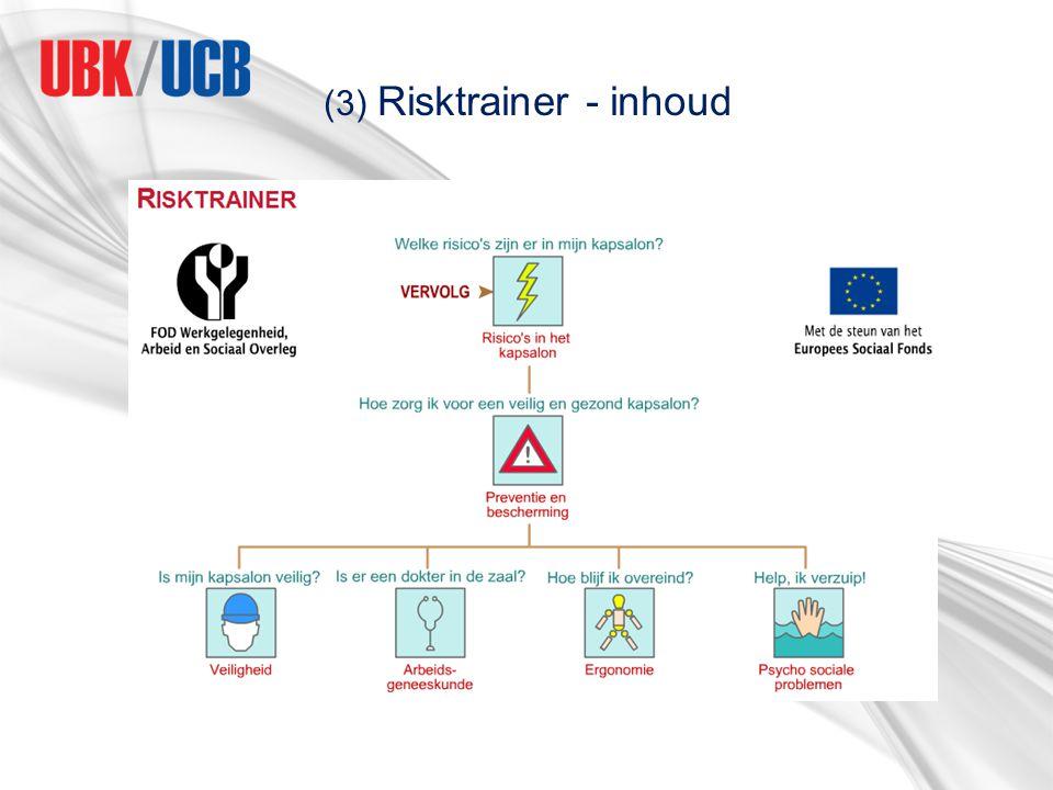 (3) Risktrainer - inhoud
