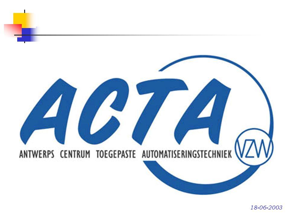 Departement Onderwijs Europees Sociaal Fonds Sociale partners Vakbonden Werkgeversorganisaties Producenten en leveranciers A C T A Ondernemingen