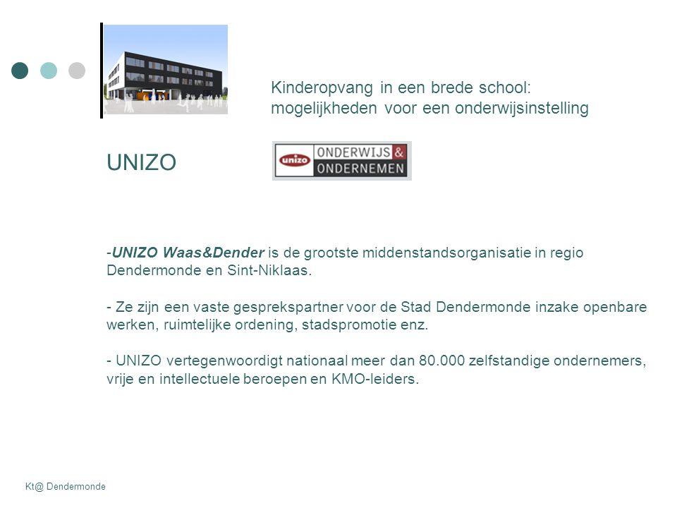 UNIZO -UNIZO Waas&Dender is de grootste middenstandsorganisatie in regio Dendermonde en Sint-Niklaas. - Ze zijn een vaste gesprekspartner voor de Stad