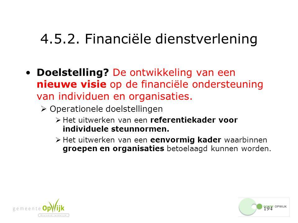 194 4.5.2.Financiële dienstverlening Doelstelling.