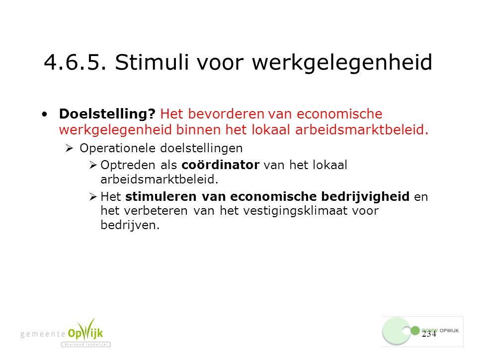 234 4.6.5.Stimuli voor werkgelegenheid Doelstelling.