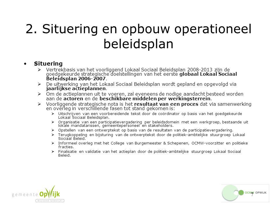 138 4.3.7.Vrijwilligerswerking Het centraliseren van vraag en aanbod mbt vrijwilligerswerk.